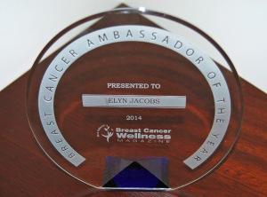 Breast Cancer Wellness Magazine Ambassador of the Year Award