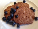 oatmeal flax pancakes with blueberries