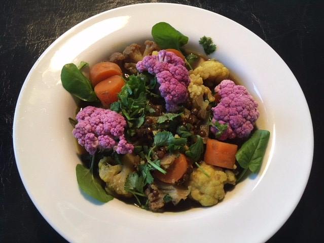 cauliflower black lentil